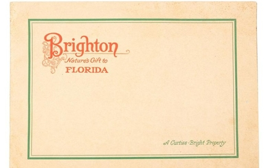 Rare illustrated brochure on Brighton, Florida c.1926