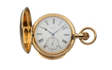 ULYSSE NARDIN LE LOCLE, MINUTE REPEATER HUNTING CASE POCKET WATCH, YELLOW GOLD
