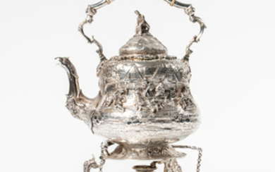 Victorian Sterling Silver Kettle-on-Stand