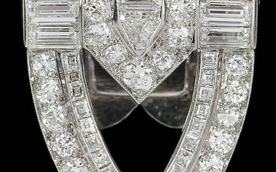 Tiffany & Co. Art Deco Platinum and Diamond Clip