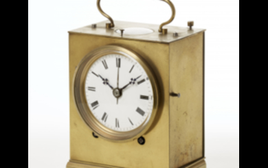 ANONYMOUS, Officier Brass travel clock First half 19th century...