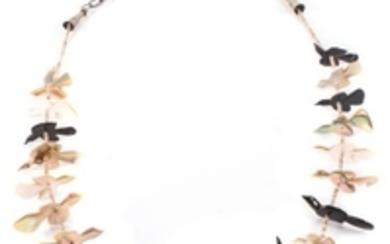 Zuni Fetish and Heishi Bead Necklace