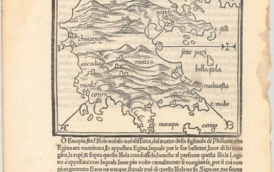 "49 Maps of Mediterranean Islands from Bordone's Isolario, ""[Lot of 21 - 49 Maps of Mediterranean Islands]"", Bordone, Benedetto"