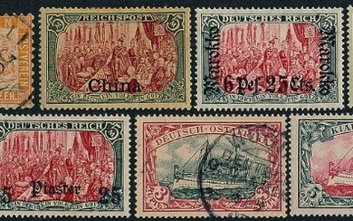 German States and Colonies. Collection in a Schaubek-album with good part of German States including many better stamps. Also a good part of German Colonies als