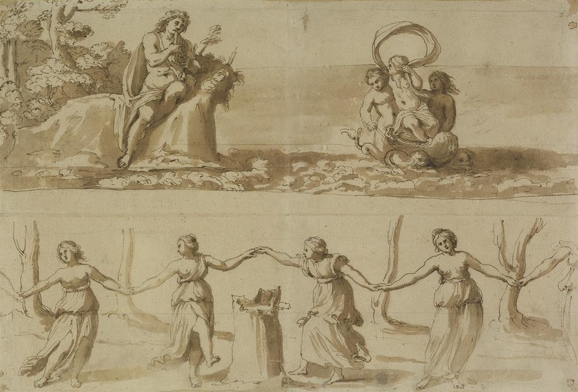 BOLOGNESE SCHOOL, EARLY 17TH CENTURY Studies for Scenes from the Story of Acis and Galatea.