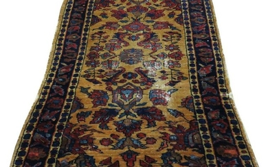 ANTIQUE HAND WOVEN PERSIAN WOOL RUG