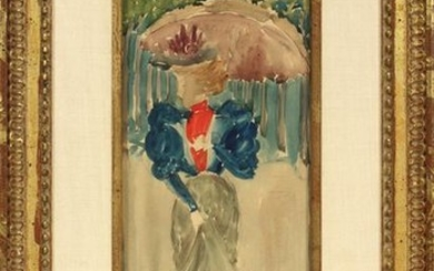 MAURICE BRAZIL PRENDERGAST WATERCOLOR & PENCIL