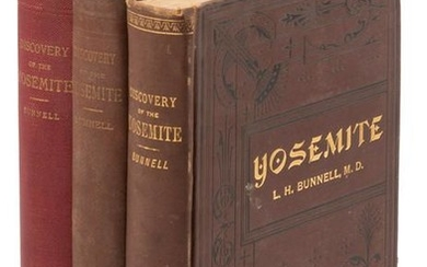 Bunnell's Discovery of the Yosemite - 3 editions