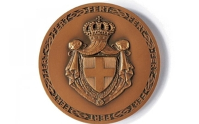 A COMMEMORATIVE MEDAL UMBERTO II OF ITALY