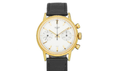 Heuer. A gold plated and stainless steel manual wind chronograph wristwatch
