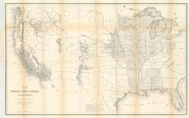 """""""Map of the Public Land States and Territories Constructed from the Public Surveys and Other Official Sources in the General Land Office"""", General Land Office"""