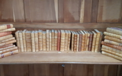 MISC. LOT OF 45 LEATHER BOUND BOOKS