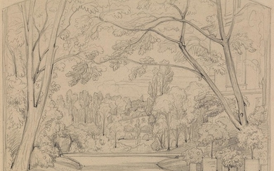 THÉODORE CARUELLE DALIGNY (Saint Aubin des Chaumes 1798 1871 Lyon) Three pencil drawings.