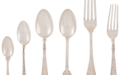 21023: A Group of Twenty-Five American Silver Flatware