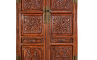 A pair of Chinese Jumu Cabinets