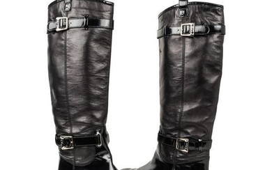Christian Dior Boot Flat Riding Style Knee High 39 / 9