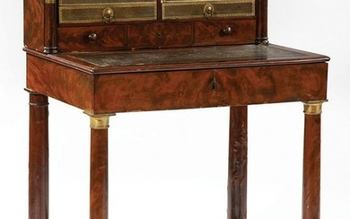 Empire Bronze-Mounted Mahogany Bureau