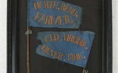 Pair of Harrison & Tyler 1840 Campaign Pennants