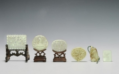 Set of 6 Chinese Jades, Ming - Qing Dynasty