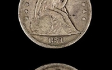 Two United States Seated Liberty $1 Coins