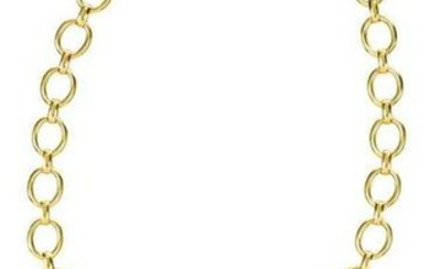 Elizabeth Locke Gold Intaglio Necklace