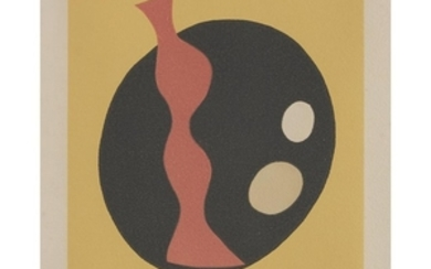 """JEAN (HANS) ARP (french/german, 1886-1966) UNTITLED from """"le soleil..."""