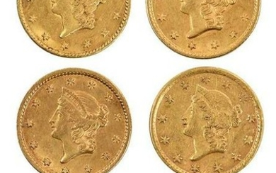 Six U.S. Gold Dollar Coins