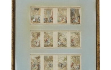 """FRENCH SCHOOL (french, 19th century) """"L'HEUREUX MARIAGE"""" AND ELEVEN..."""