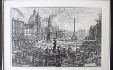 Piranesi, Giovanni: PIAZZA NAVONA, WITH S. AGNESE ON THE LEFT, Year 1773