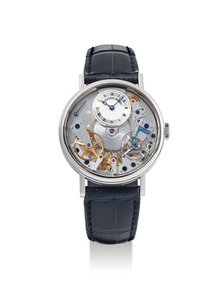 Breguet. A Fine 18K White Gold Semi-Skeletonised Wristwatch With Power Reserve