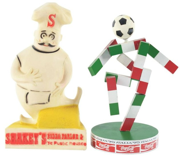 Lot of 2: Advertising Figures - Shakey's, World Cup.