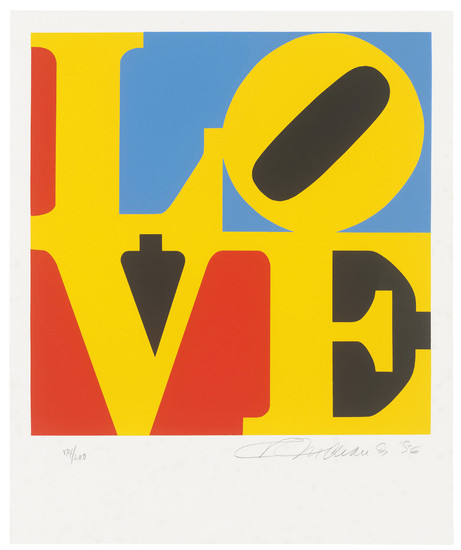 ROBERT INDIANA (1928-2018), One Plate, from: The Book of Love