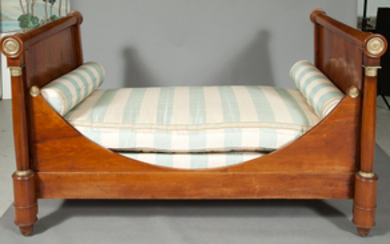 Empire Ormolu-Mounted Fruitwood Daybed