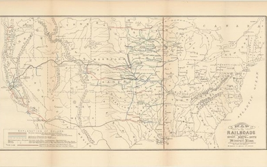 "NO RESERVE, ""Map of the Railroads in Whole or in Part West, North or South of the Missouri River..."", Donaldson, Thomas"