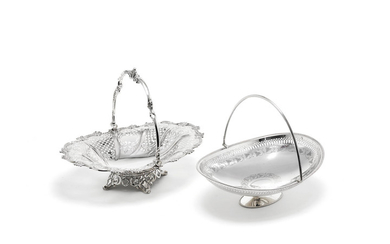 A Victorian silver swing-handle basket
