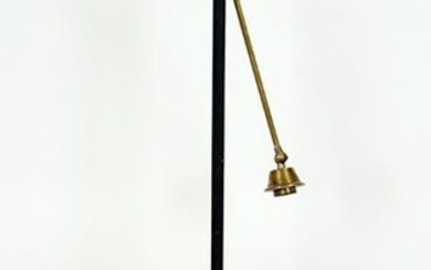 BRASS IRON FLOOR LAMP ADJUSTABLE ARMS AND HEADS