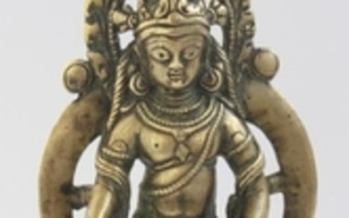 A Copper Alloy Figurine of Jambhala, India, Kashmir 9-10th Century.