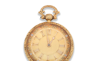 James Simpson, Lincoln. An 18K gold key wind open face pocket watch