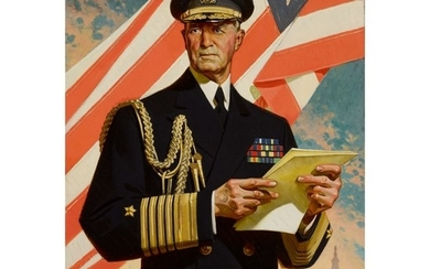 JOSEPH CHRISTIAN LEYENDECKER | PORTRAIT OF FLEET ADMIRAL WILLIAM D. LEAHY