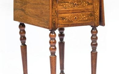 Louis Philippe Inlaid Rosewood Table