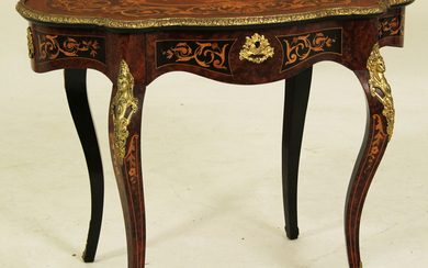 LOUIS XV STYLE MARQUETRY SALON TABLE