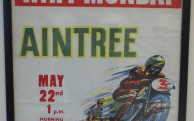 Three Aintree Motorcycle racing posters,