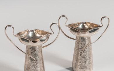 Two Edward VII Sterling Silver Vases