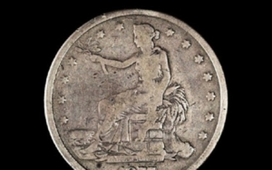 A United States 1877 Trade Dollar Coin