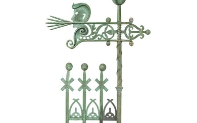 VERY FINE AND RARE MOLDED SHEET COPPER 'NORTH WIND' WEATHERVANE, A.B. & W.T. WESTERVELT, NEW YORK, CIRCA 1883
