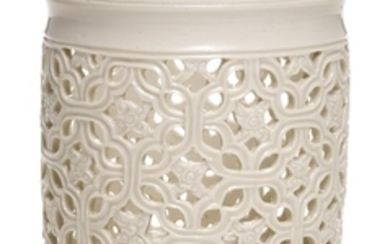 A DEHUA RETICULATED BRUSHPOT QING DYNASTY, 18TH CENTURY