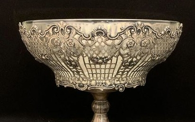 German Silver Reticulated Compote On Stand