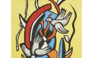 AFTER FERNAND LÉGER (french, 1881–1955) TWO BIRDS Stamped with...