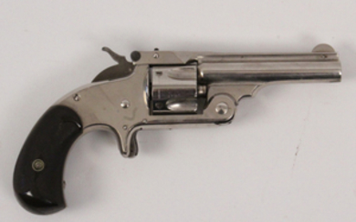 Smith and Wesson model 1.5 3rd issue nichel top break round butt revolver in 32 caliber