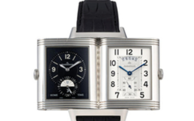 Jaeger-LeCoultre. A Stainless Steel Limited Edition Dual Time Wristwatch with Date